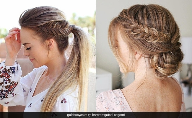 4 Easy Braided Hairstyles To Glam Up Instantly Pertaining To Braided Glam Ponytail Hairstyles (View 14 of 25)