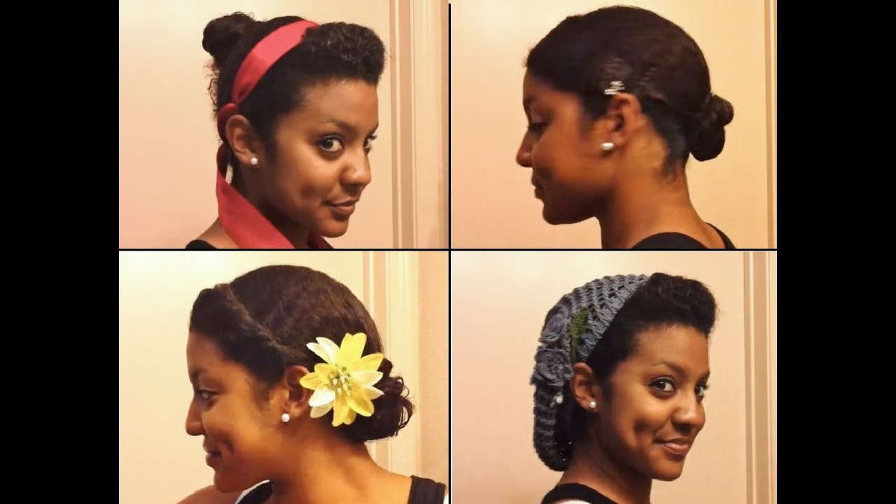 4 Easy, Stylish Ways To Bun Your Transitioning Hair – Youtube Regarding Short Haircuts For Transitioning Hair (View 3 of 25)