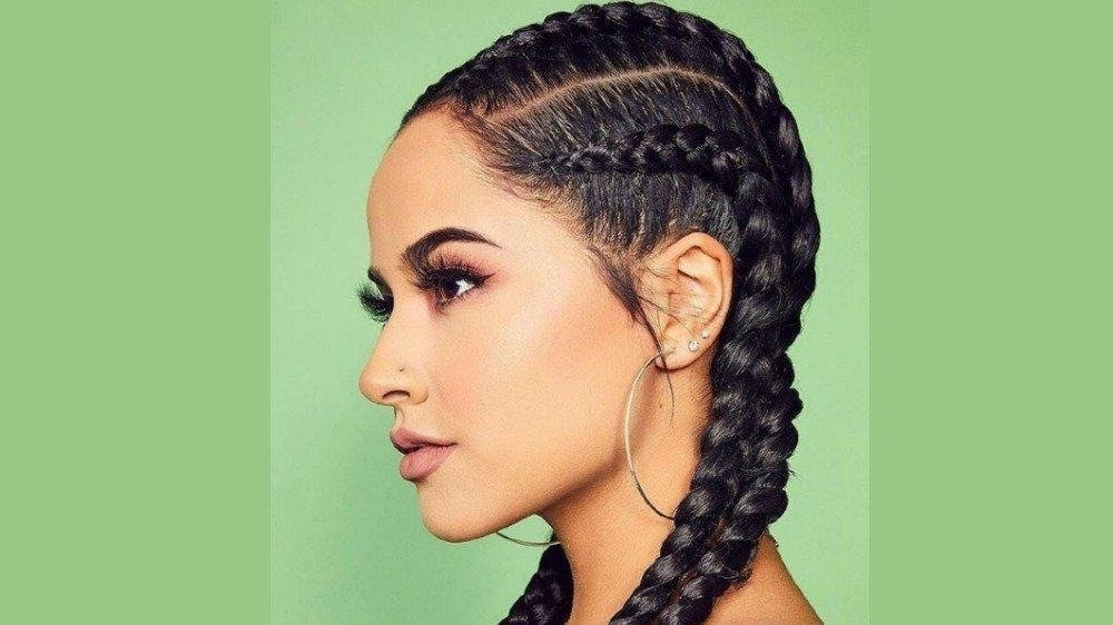 40 Adorable Celeb Inspired Braided Hairstyles You Have To Try Right With Regard To Perfectly Imperfect Side Ponytail Hairstyles (View 23 of 25)