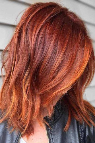 40 Auburn Hair Color Ideas To Look Natural | Hair Ideas | Pinterest With Burgundy And Tangerine Piecey Bob Hairstyles (View 7 of 25)