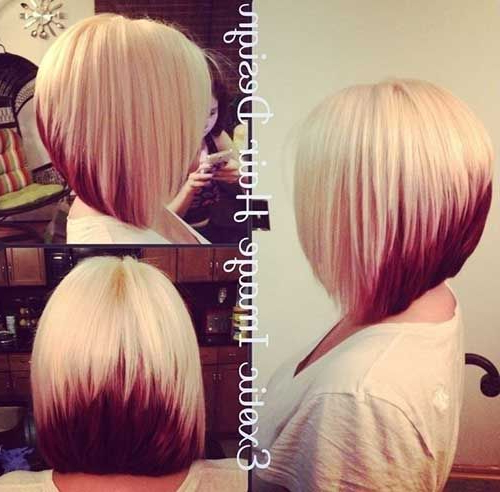 40 Best Bob Hair Color Ideas | Bob Hairstyles 2015 – Short With Extreme Angled Bob Haircuts With Pink Peek A Boos (View 17 of 25)