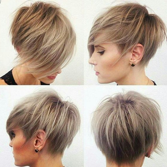 40 Best Short Hairstyles For Fine Hair 2018: Short Haircuts For Inside Bronde Balayage Pixie Haircuts With V Cut Nape (View 19 of 25)