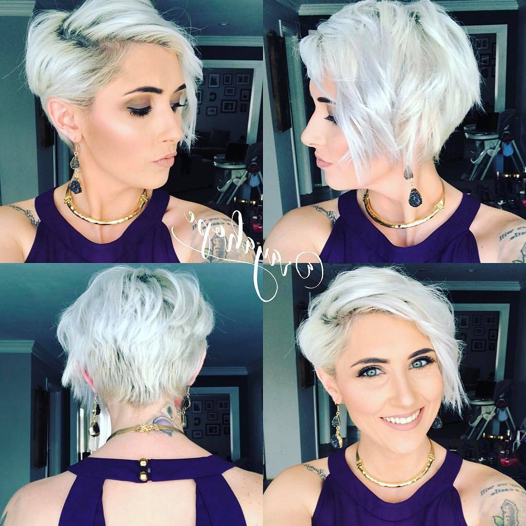 40 Best Short Hairstyles For Fine Hair 2018: Short Haircuts For Women In Short Haircuts For Blondes With Thin Hair (View 10 of 25)