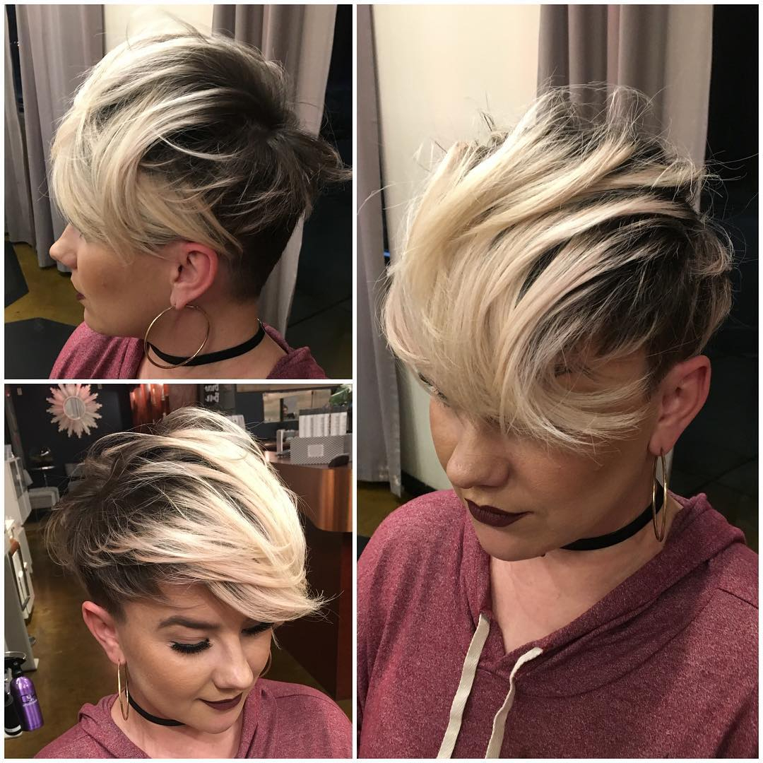 40 Best Short Hairstyles For Fine Hair 2018: Short Haircuts For Women Intended For Short Funky Hairstyles For Over  (View 16 of 25)