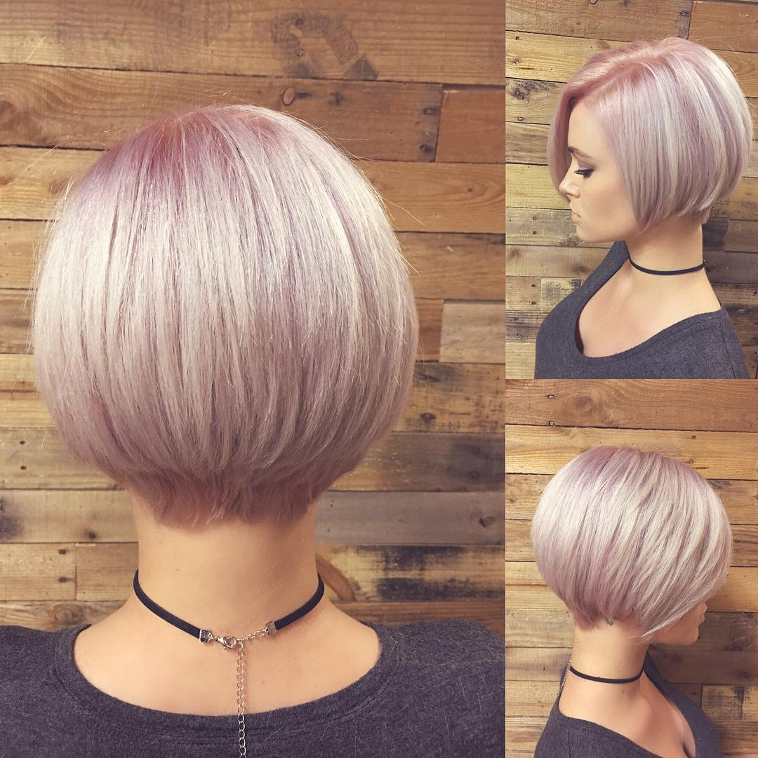 40 Best Short Hairstyles For Fine Hair 2018: Short Haircuts For Women With Regard To Short Hairstyles For Fine Hair Over  (View 16 of 25)