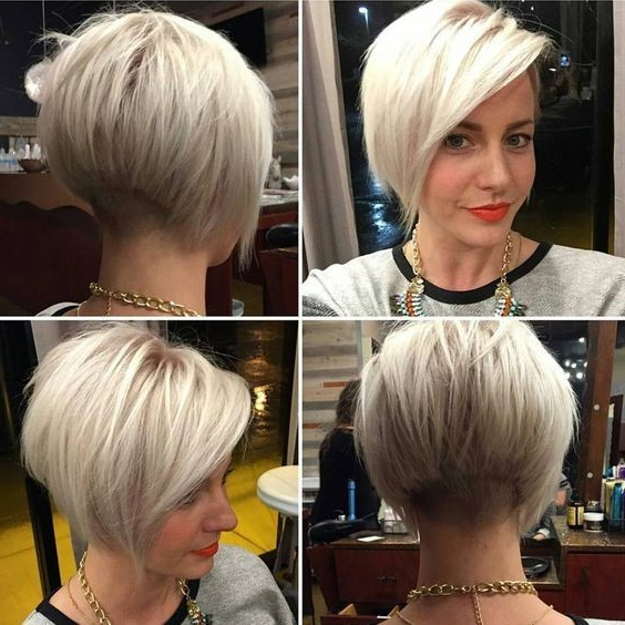 40 Best Short Hairstyles For Fine Hair 2019 Throughout White Blonde Bob Haircuts For Fine Hair (View 5 of 25)