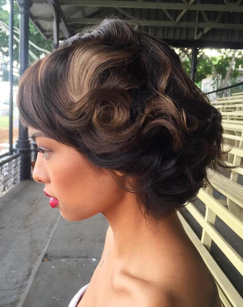 """40 Best Short Wedding Hairstyles That Make You Say """"Wow Inside Hairstyle For Short Hair For Wedding (View 22 of 25)"""