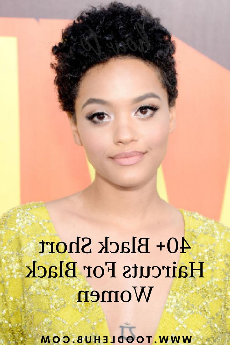40+ Black Short Haircuts For Black Women – Toodle Hub Inside Black Short Haircuts (View 11 of 25)