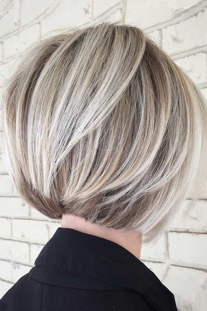 40 Blonde Short Hairstyles For Round Faces | Hairstyles | Pinterest Regarding Short Razored Blonde Bob Haircuts With Gray Highlights (View 2 of 25)