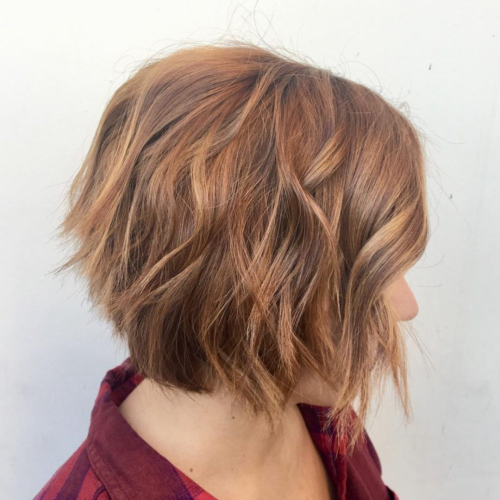 40 Choppy Bob Hairstyles 2019: Best Bob Haircuts For Short, Medium Intended For Edgy Brunette Bob Hairstyles With Glossy Waves (View 13 of 25)