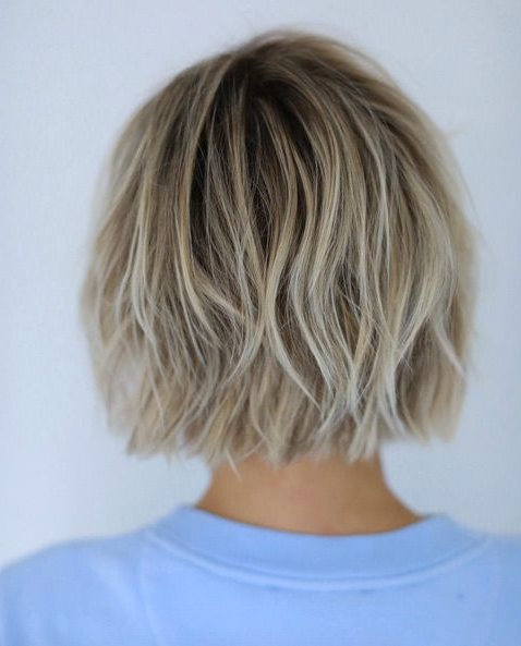 40 Choppy Bob Hairstyles 2019: Best Bob Haircuts For Short, Medium Throughout Choppy Wispy Blonde Balayage Bob Hairstyles (View 4 of 25)