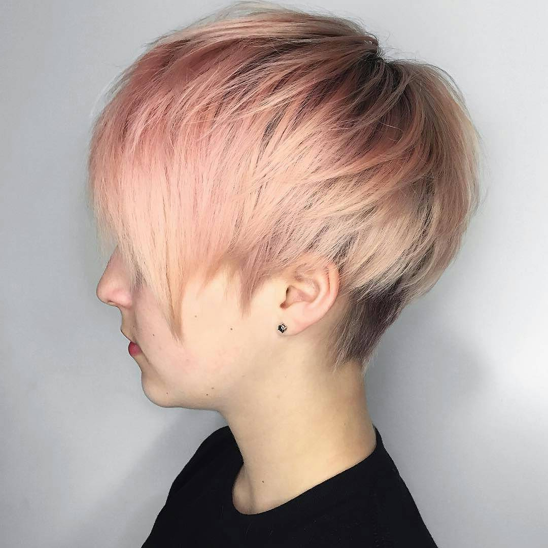 40 Cool And Contemporary Short Haircuts For Women – Popular Haircuts Within Pink Short Haircuts (View 9 of 25)