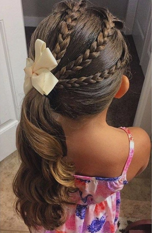 40 Cool Hairstyles For Little Girls On Any Occasion | Gigi Girl <3 In Braided Maze Low Ponytail Hairstyles (View 7 of 25)