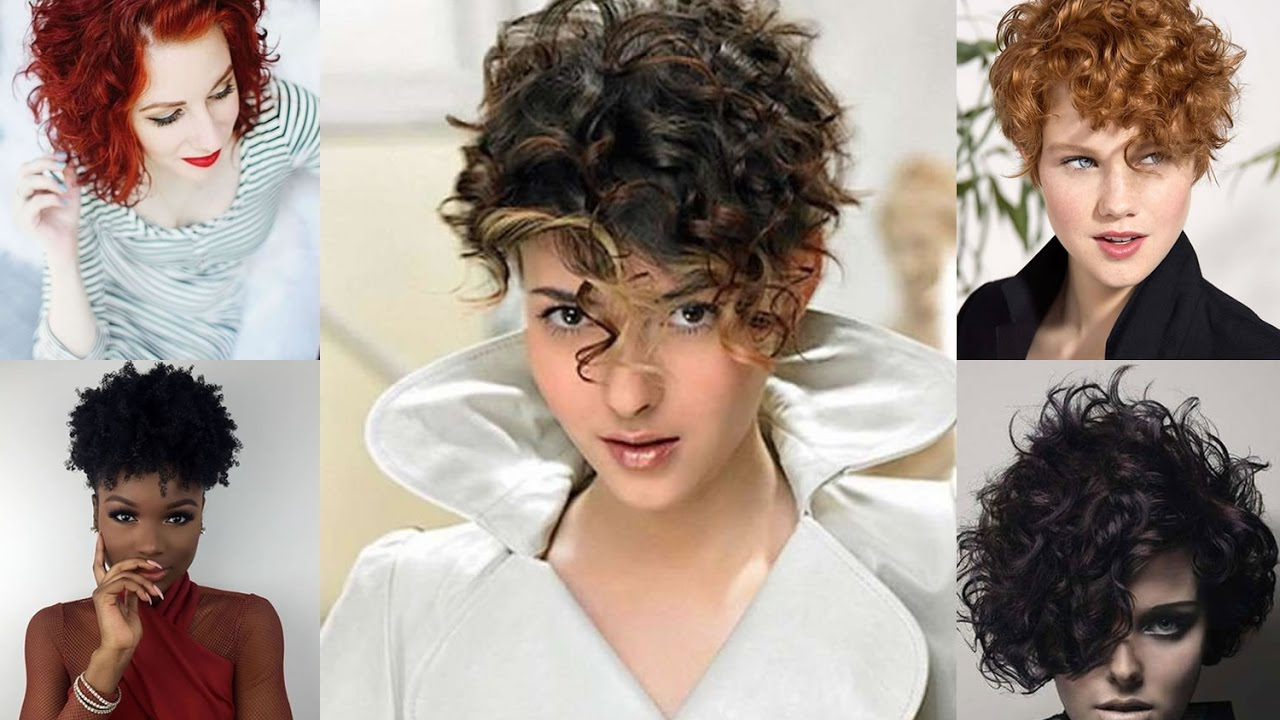40 Curly Hairstyles For Short Hair – Wavy Bob Haircuts 2018 – Youtube With Trendy Short Curly Haircuts (View 5 of 25)