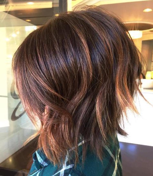 40 Fabulous Choppy Bob Hairstyles – Page 16 Of 41 – Fallbrook247 Throughout Layered Caramel Brown Bob Hairstyles (View 8 of 25)