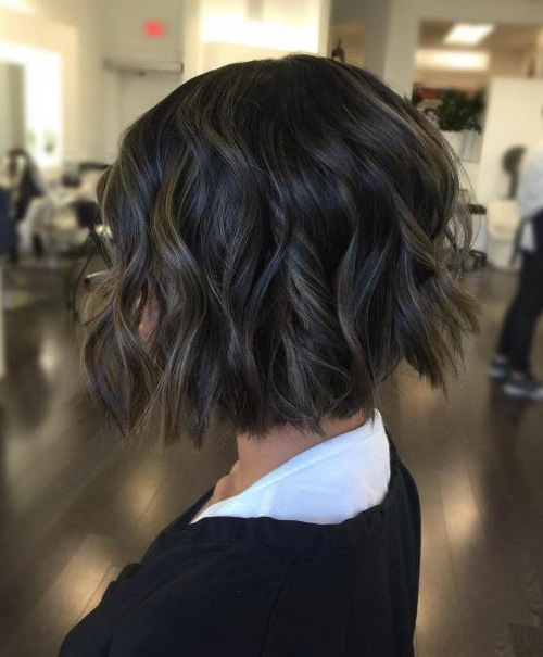 40 Fabulous Choppy Bob Hairstyles – Page 31 Of 41 – Fallbrook247 For Inverted Brunette Bob Hairstyles With Feathered Highlights (View 14 of 25)