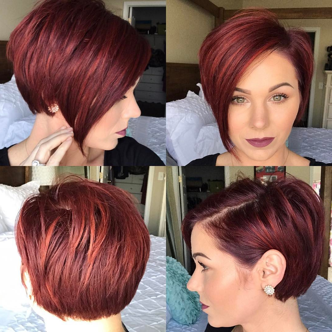 40 Hottest Short Hairstyles, Short Haircuts 2018 – Bobs, Pixie, Cool For Red Short Hairstyles (View 9 of 25)