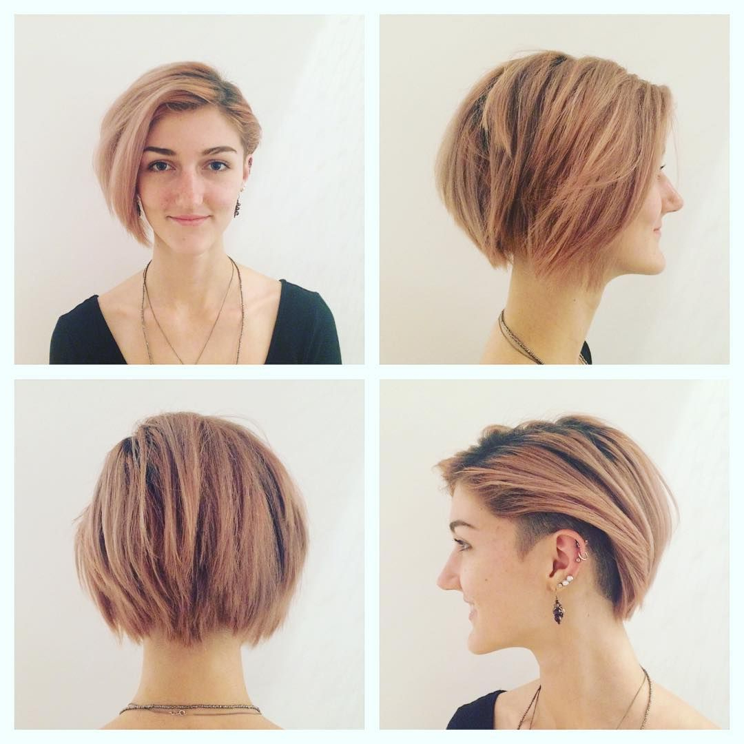 40 Hottest Short Hairstyles, Short Haircuts 2018 – Bobs, Pixie, Cool Inside Latest Short Hairstyles For Ladies (View 9 of 25)
