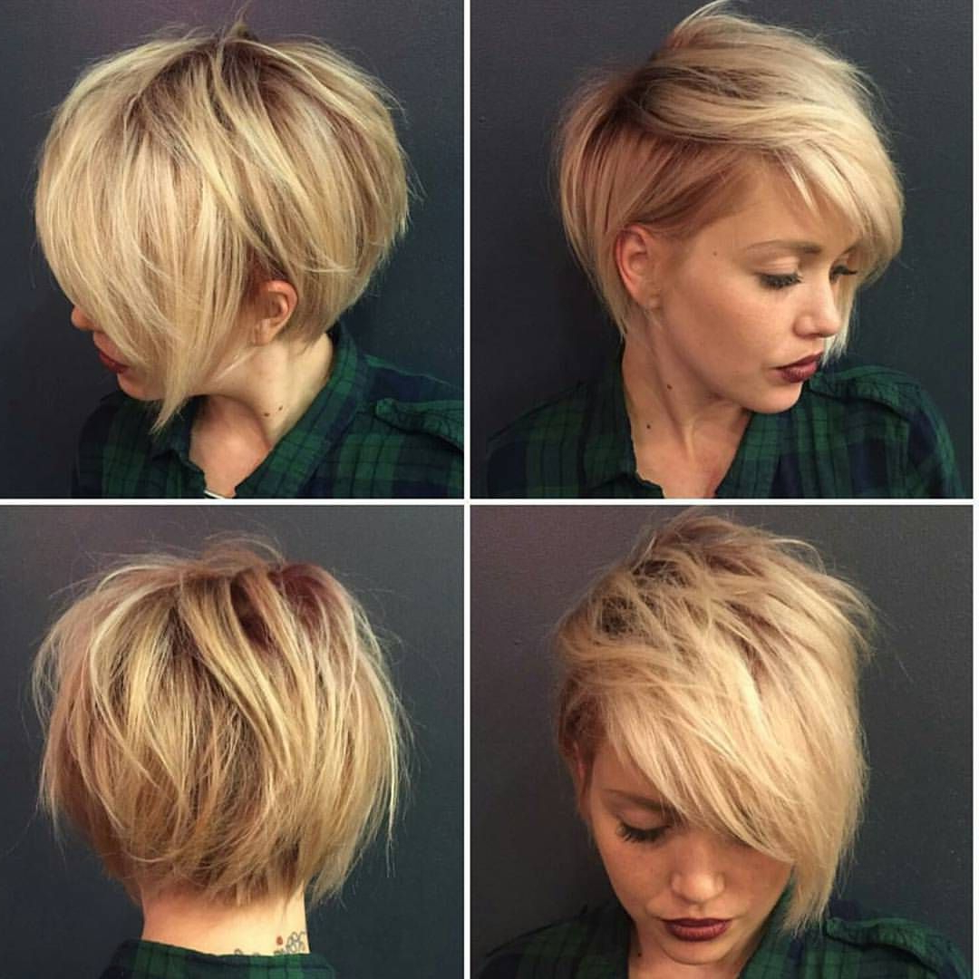 40 Hottest Short Hairstyles, Short Haircuts 2018 – Bobs, Pixie, Cool Inside Short Hairstyles For Spring (View 12 of 25)