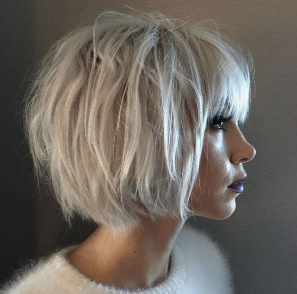 40 Messy Bob Hairstyles That Women Just Can't Say No To – Style Skinner Inside Messy Jaw Length Blonde Balayage Bob Haircuts (View 15 of 25)