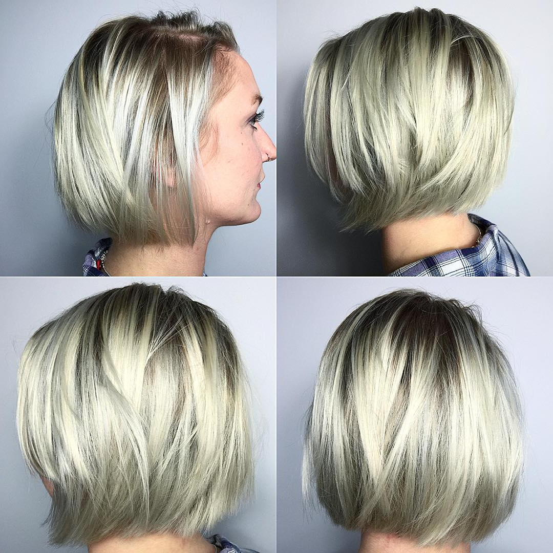 40 Most Flattering Bob Hairstyles For Round Faces 2019 – Hairstyles In Short Bob Hairstyles With Long Edgy Layers (View 13 of 25)