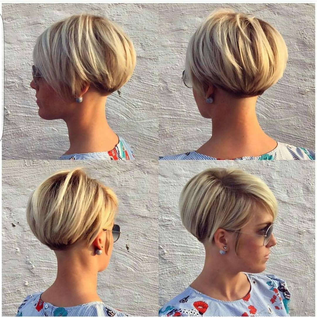 40 Most Flattering Bob Hairstyles For Round Faces 2019 – Hairstyles In Trendy Short Haircuts For Round Faces (View 23 of 25)