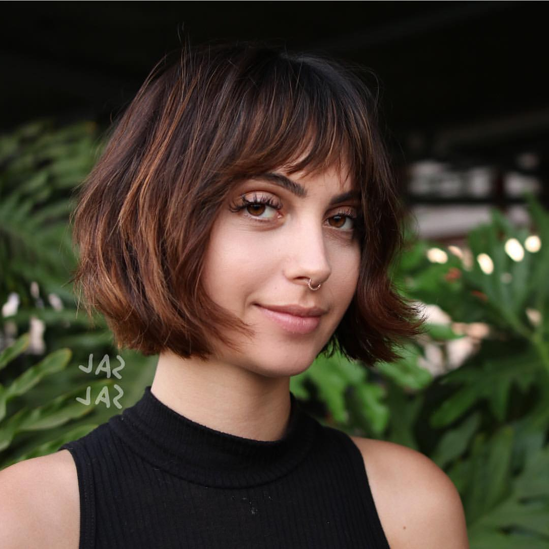 40 Most Flattering Bob Hairstyles For Round Faces 2019 – Hairstyles Intended For Short Hairstyles With Bangs For Round Face (View 15 of 25)
