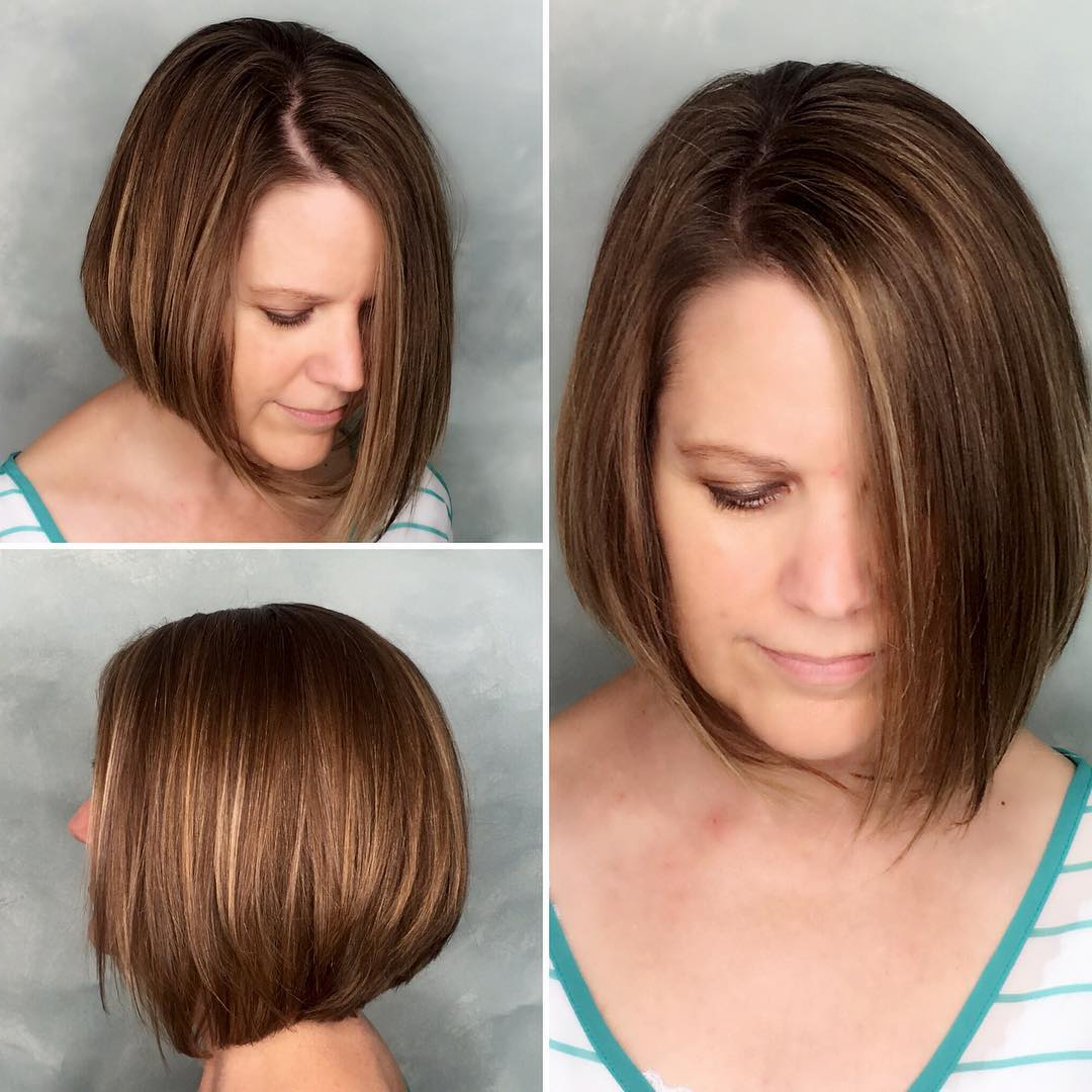 40 Most Flattering Bob Hairstyles For Round Faces 2019 – Hairstyles With Simple Short Haircuts For Round Faces (View 9 of 25)