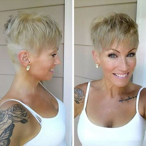 40 Of The Best Pixie Haircuts With Bangs – Page 35 Of 40 – Fallbrook247 Inside Long Messy Ash Blonde Pixie Haircuts (View 13 of 25)