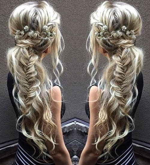 40 Side Ponytails That You Will Love | Fishtail Braids, Fishtail And Within Twin Braid Updo Ponytail Hairstyles (View 19 of 25)