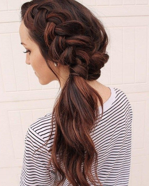 40 Side Ponytails That You Will Love | Make Up | Pinterest | Crown Intended For Creative Side Ponytail Hairstyles (View 25 of 25)