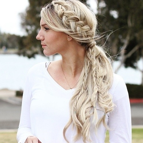 40 Side Ponytails That You Will Love – Page 13 – Foliver Blog Pertaining To Pony And Dutch Braid Combo Hairstyles (View 9 of 25)