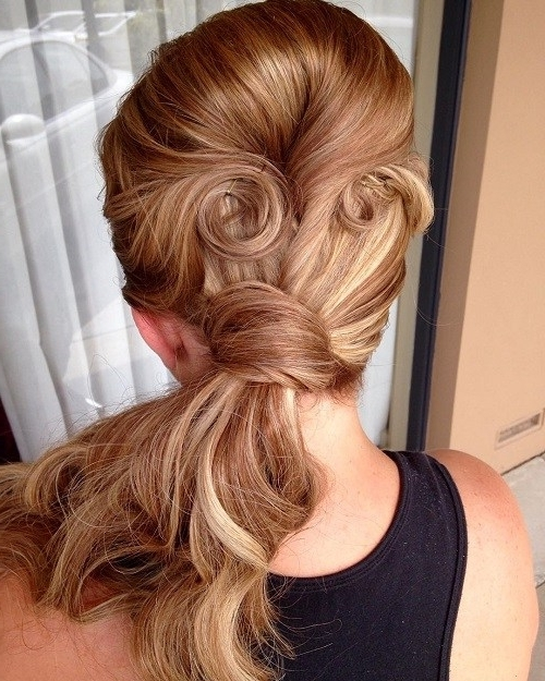 40 Side Ponytails That You Will Love – Page 6 – Foliver Blog Pertaining To Twisted Retro Ponytail Updo Hairstyles (View 6 of 25)
