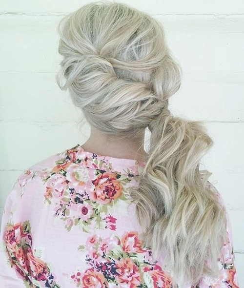 40 Side Ponytails That You Will Love Within Twisted And Pinned Blonde Ponytails (View 5 of 25)