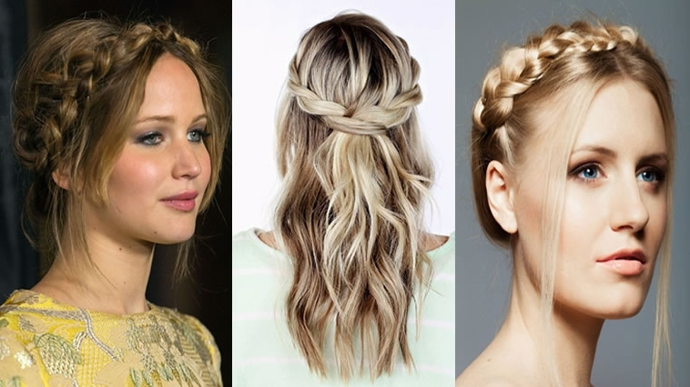 40 Stylish Crown Braids Hairstyles For Long Hair – Suitable For With Regard To Braided Crown Ponytails For Round Faces (View 25 of 25)