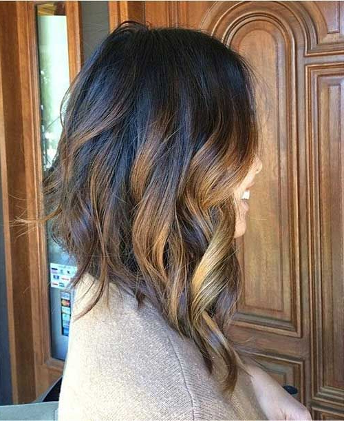 41 Alluring Long Bob Hairstyles You Must Try This Summer For Inverted Brunette Bob Hairstyles With Feathered Highlights (View 15 of 25)