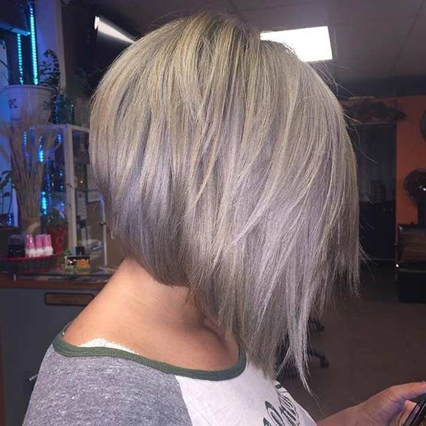 41 Best Inverted Bob Hairstyles   Stayglam Hairstyles   Pinterest With Silver Balayage Bob Haircuts With Swoopy Layers (View 24 of 25)