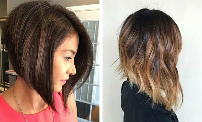 41 Best Inverted Bob Hairstyles | Stayglam Intended For Inverted Brunette Bob Hairstyles With Feathered Highlights (View 16 of 25)