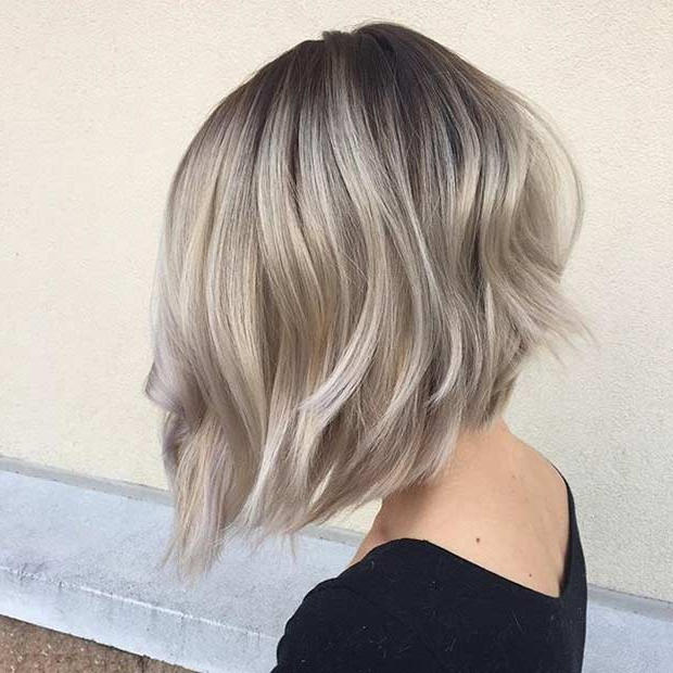 41 Best Inverted Bob Hairstyles | Stayglam Regarding Short Blonde Inverted Bob Haircuts (View 12 of 25)