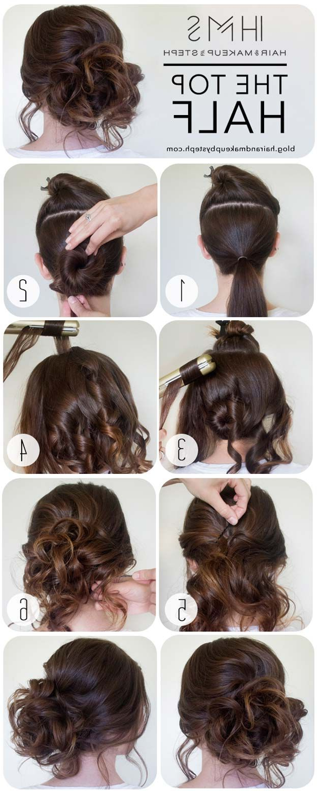 41 Diy Cool Easy Hairstyles That Real People Can Actually Do At Home Inside Short Hairstyles For Special Occasions (View 21 of 25)