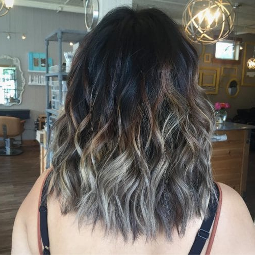 41 Incredible Dark Brown Hair With Highlights (Trending For 2018) Regarding Short Bob Hairstyles With Dimensional Coloring (View 22 of 25)