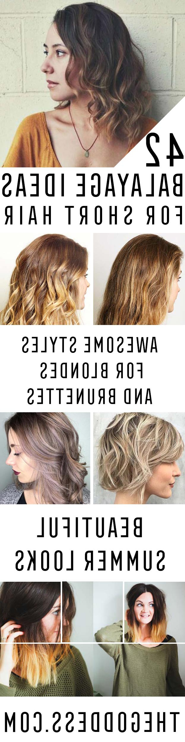 42 Balayage Ideas For Short Hair – The Goddess Throughout Curly Dark Brown Bob Hairstyles With Partial Balayage (View 25 of 25)