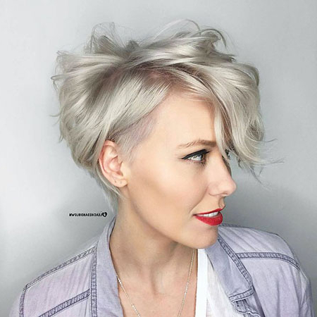 42 Popular Short Pixie Hair   Short Hairstyles & Haircuts 2018 Within Ash Blonde Undercut Pixie Haircuts (View 18 of 25)