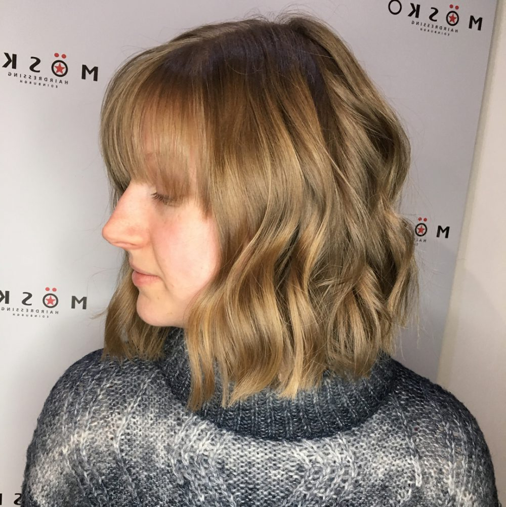 43 Greatest Wavy Bob Hairstyles – Short, Medium And Long In 2018 For Short Bob Hairstyles With Whipped Curls And Babylights (View 24 of 25)