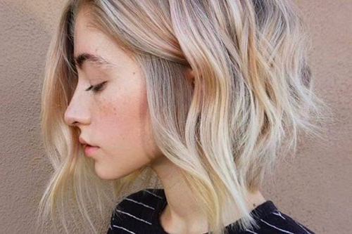 43 Greatest Wavy Bob Hairstyles – Short, Medium And Long In 2018 Regarding Butter Blonde A Line Bob Hairstyles (View 13 of 25)