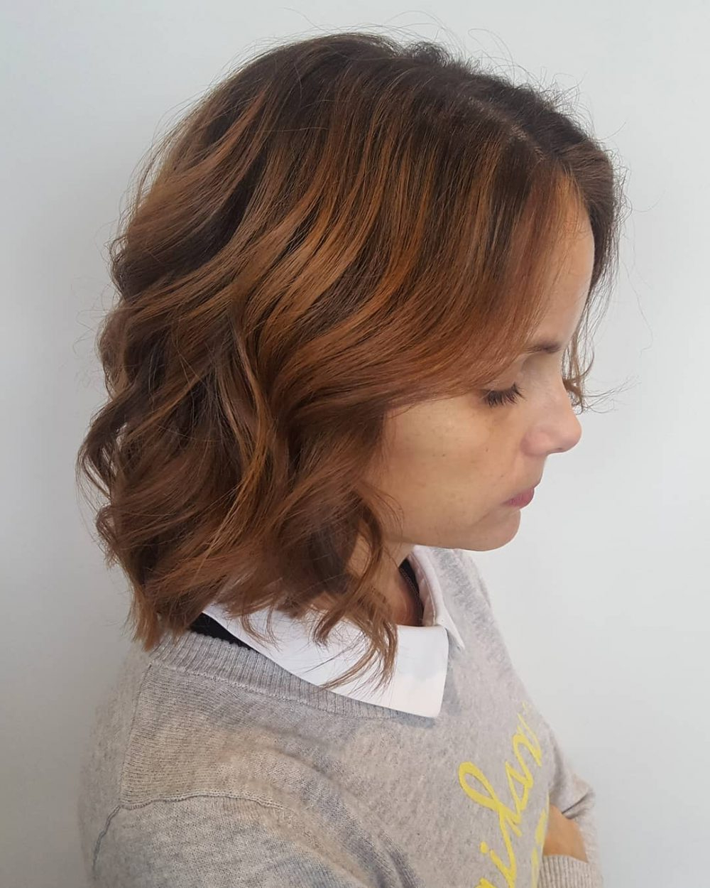 43 Greatest Wavy Bob Hairstyles – Short, Medium And Long In 2018 With Regard To Loosely Waved Messy Brunette Bob Hairstyles (View 8 of 25)