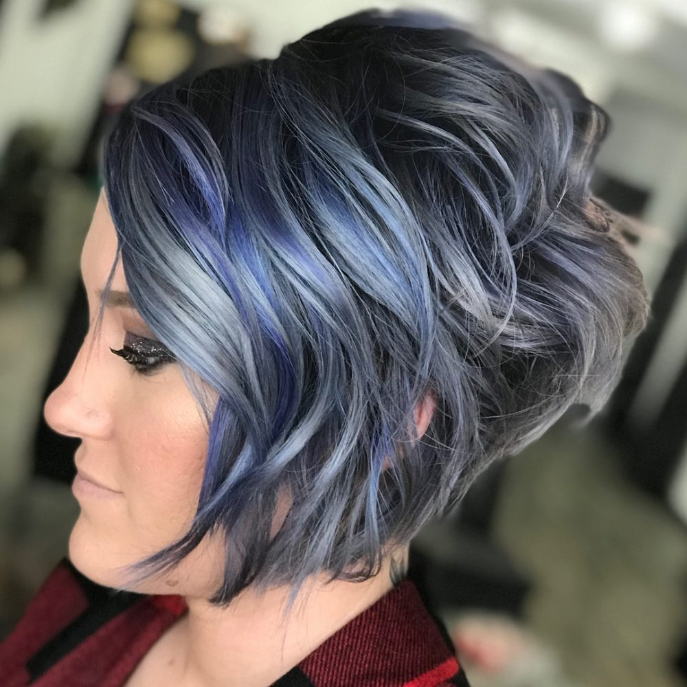 43 Greatest Wavy Bob Hairstyles – Short, Medium And Long In 2018 Within Stacked Curly Bob Hairstyles (View 10 of 25)