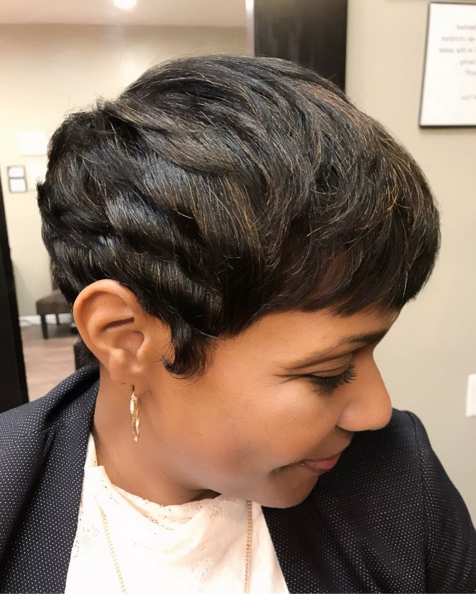43 Perfect Short Hairstyles For Fine Hair In 2018 Within Pixie Layered Short Haircuts (View 17 of 25)