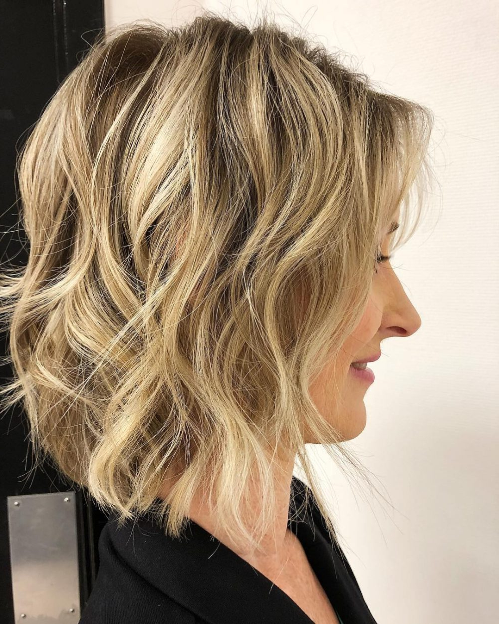 43 Perfect Short Hairstyles For Fine Hair In 2018 Within Tousled Wavy Blonde Bob Hairstyles (View 18 of 25)