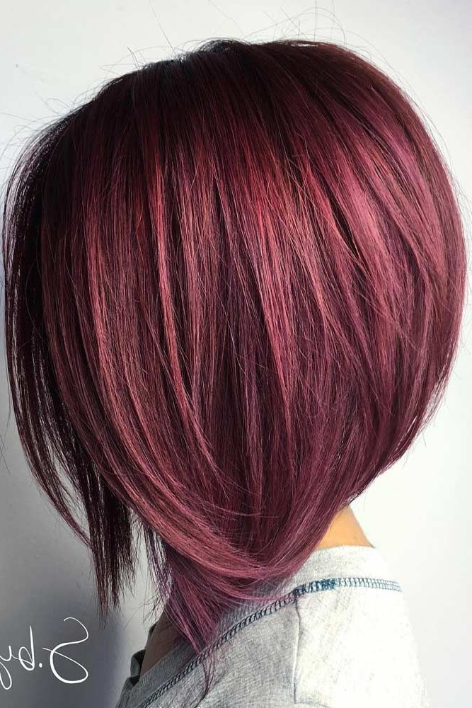 43 Superb Medium Length Hairstyles For An Amazing Look | Gotta Get With Stacked Black Bobhairstyles  With Cherry Balayage (View 9 of 25)
